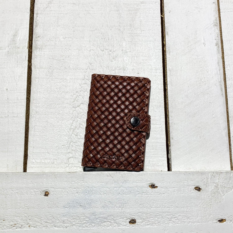 SECRID –  Miniwallet Basket Brown