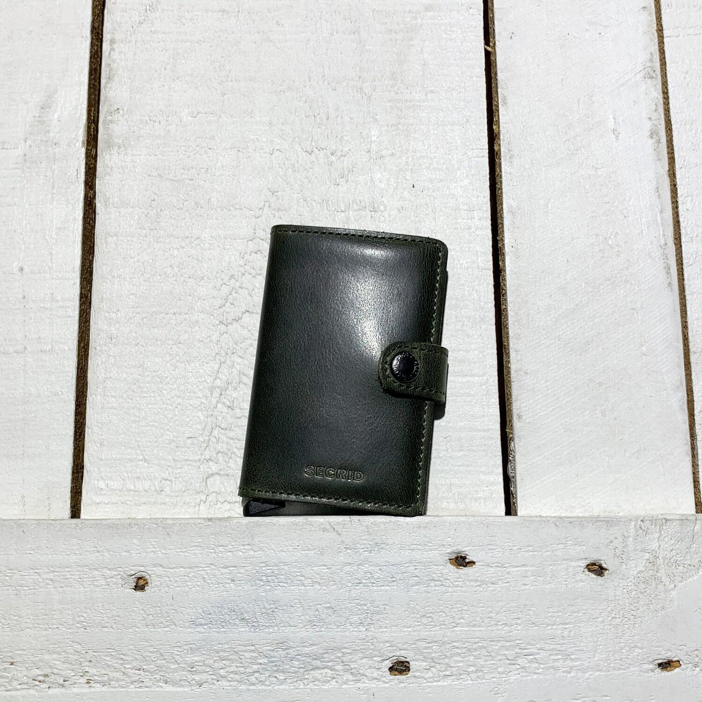 SECRID –  Miniwallet Vintage Olive Black