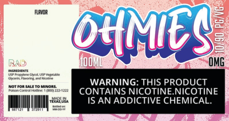 Ohmies 10/90 e-Juice (0mG)
