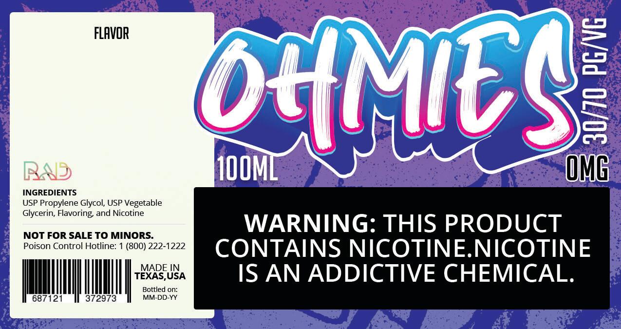 Ohmies 30/70 e-Juice (0mG)