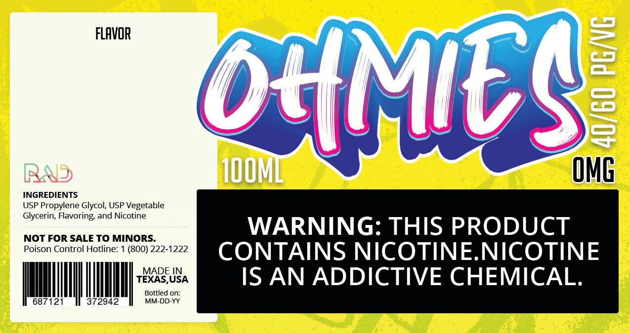 Ohmies 40/60 e-Juice (0mG)