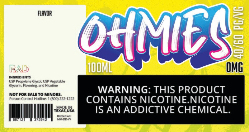Ohmies 40/60 e-Juice (0mG)