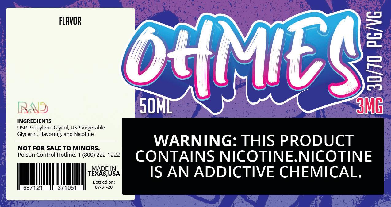 Ohmies 30/70 e-Juice (3mG)