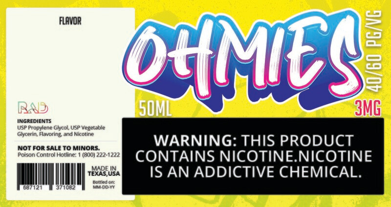 Ohmies 40/60 e-Juice (3mG)
