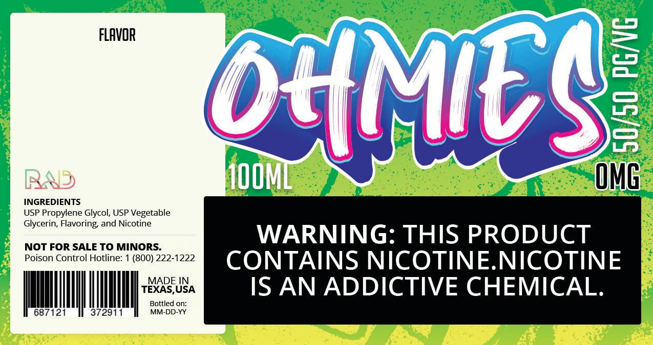 Ohmies 50/50 e-Juice (0mG)