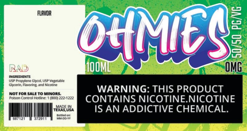 Ohmies 50/50 e-Juice (0mG)