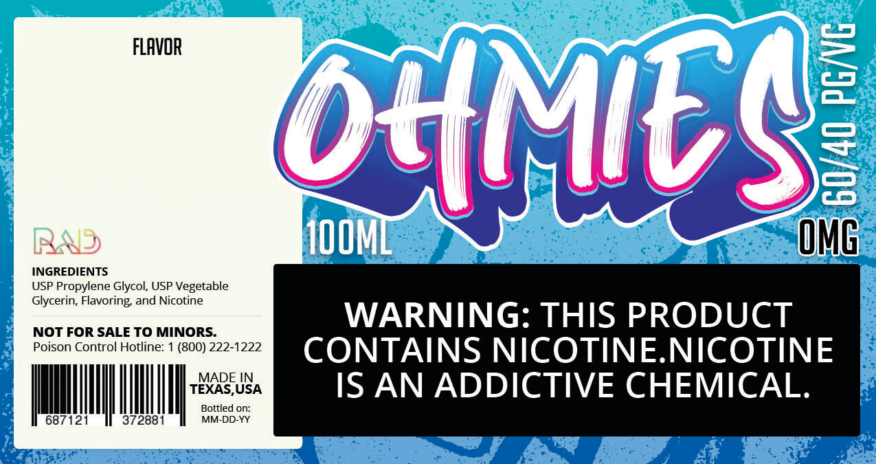 Ohmies 60/40 e-Juice (0mG)