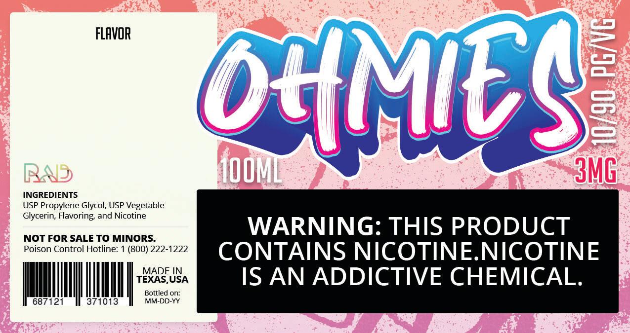 Ohmies 10/90 e-Juice (3mG)