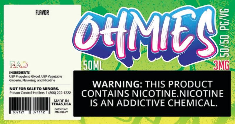 Ohmies 50/50 e-Juice (3mg)