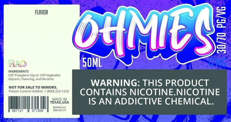 Ohmies 30/70 e-Juice (12mG)