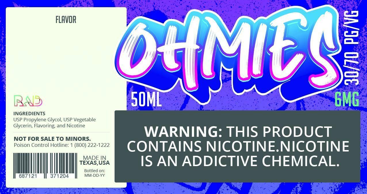 Ohmies 30/70 e-Juice (6mG)