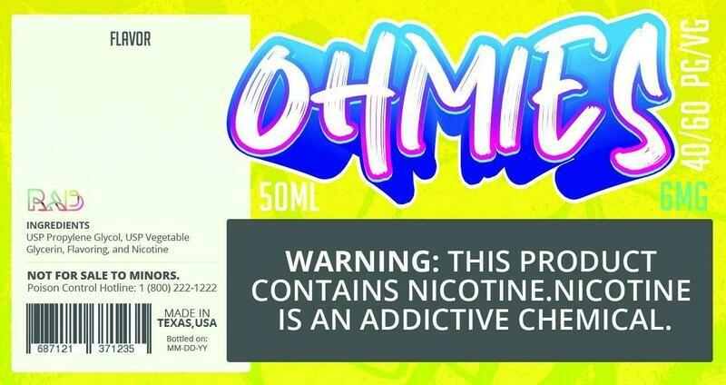 Ohmies 40/60 e-Juice (6mG)
