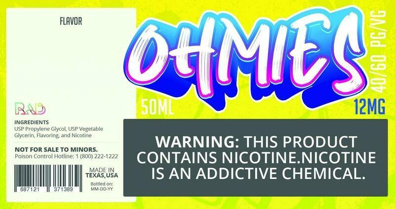 Ohmies 40/60 e-Juice (12mG)