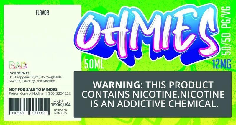 Ohmies 50/50 e-Juice (12mG)