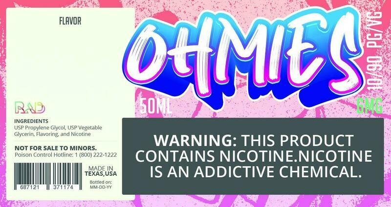 Ohmies 10/90 e-Juice (6mG)