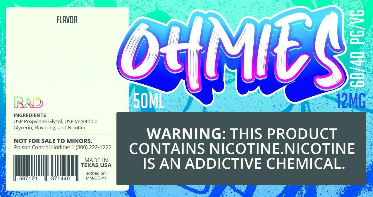 Ohmies 60/40 e-Juice (12mG)