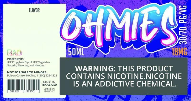 Ohmies 30/70 e-Juice (18mG)