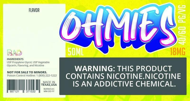 Ohmies 40/60 e-Juice (18mG)