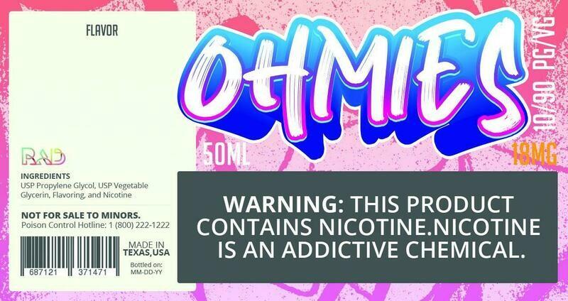 Ohmies 10/90 e-Juice (18mG)