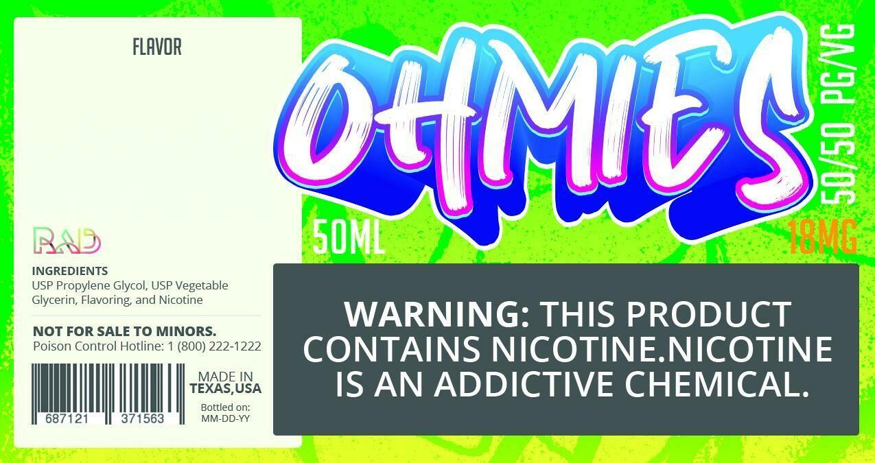 Ohmies 50/50 e-Juice (18mG)