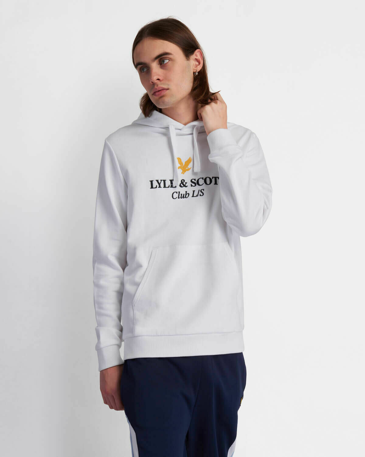 Lyle & Scott | Club L/S Hoodie - White