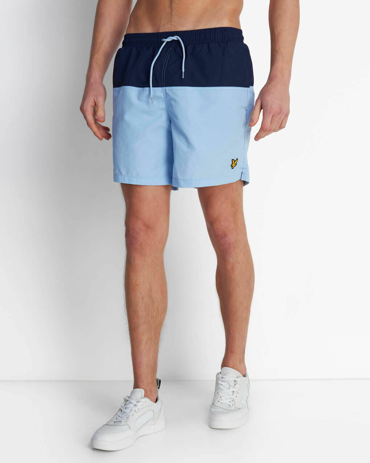 Lyle & Scott | Half Split Swim Short - Navy Pool Blue