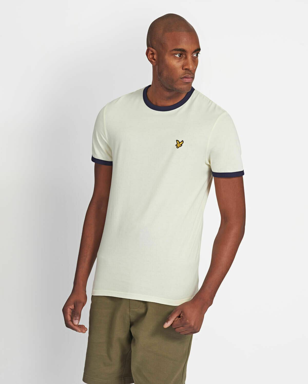 Lyle & Scott | Ringer T-Shirt - White - Navy