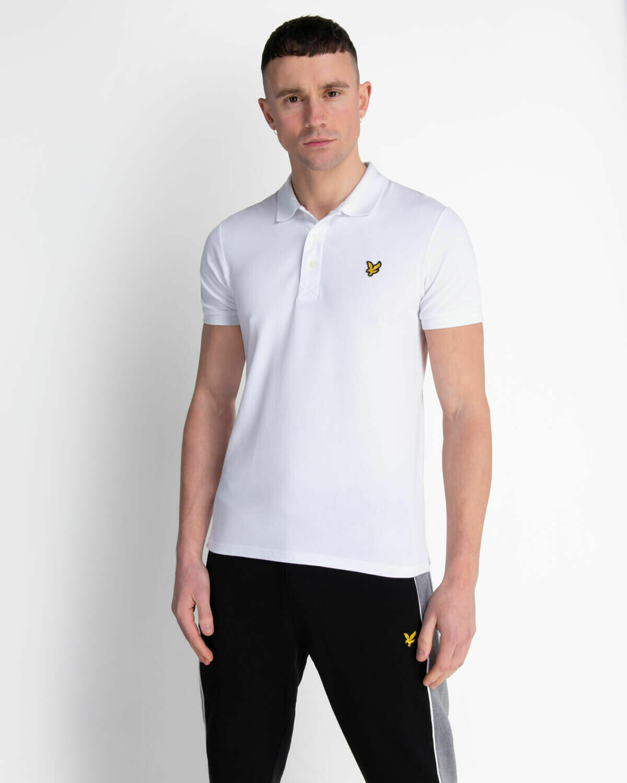 Lyle & Scott   Slim Stretch Polo Shirt - White