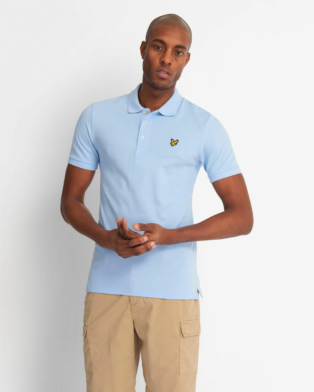 Lyle & Scott   Slim Stretch Polo Shirt - Pool Blue