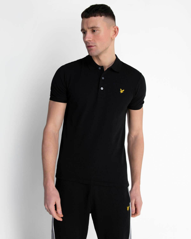 Lyle & Scott | Slim Stretch Polo Shirt -Jet Black
