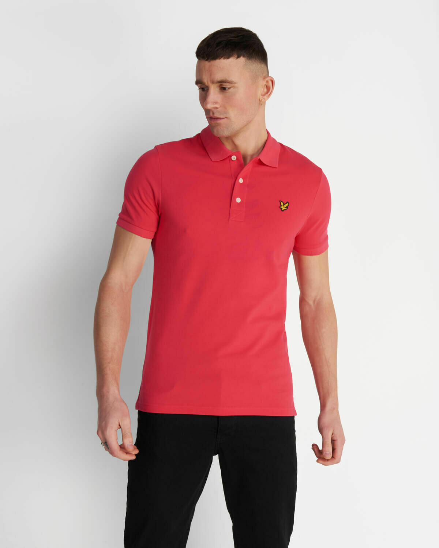 Lyle & Scott   Slim Stretch Polo Shirt - Geranium Pink