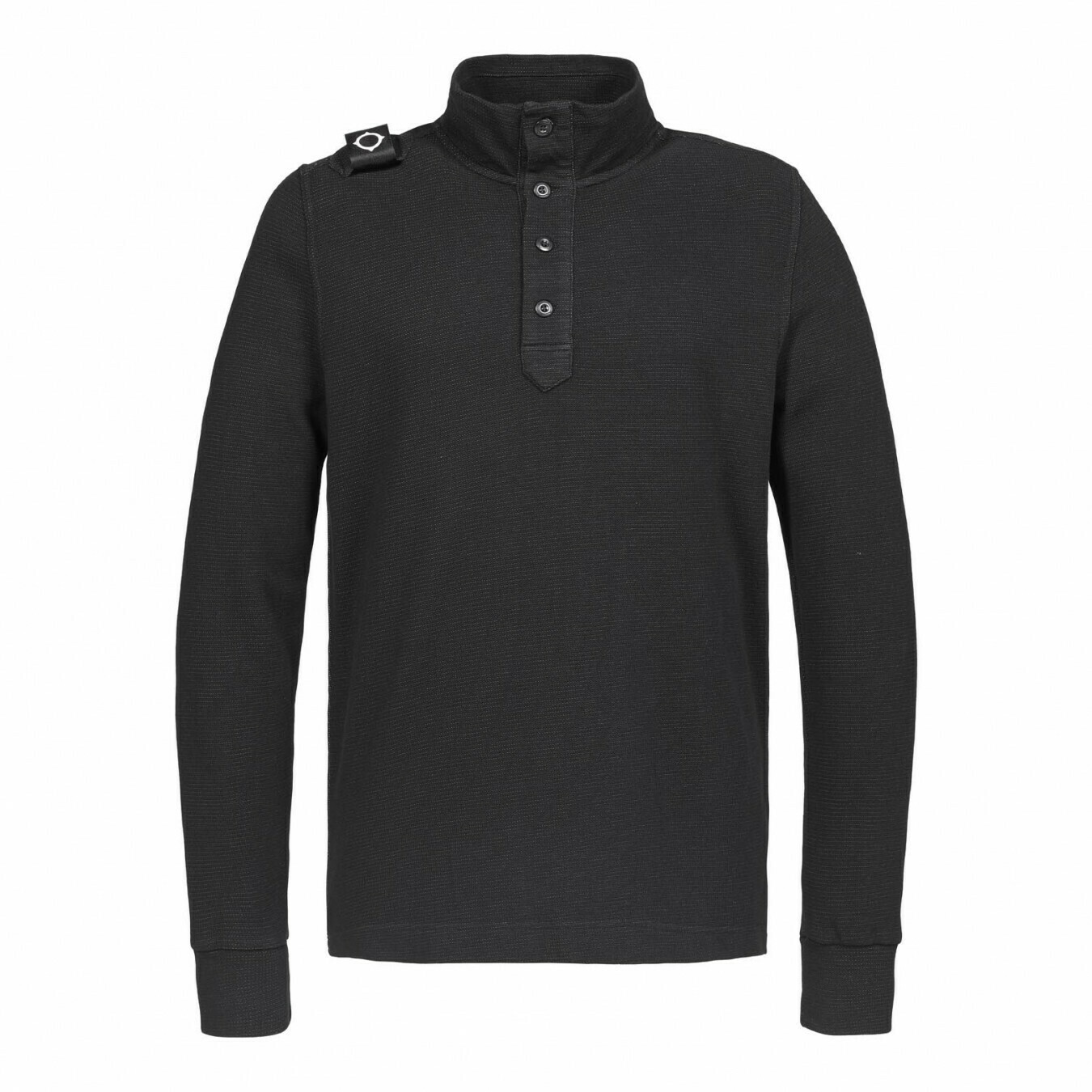 Mastrum | double face pique funnel | jet black