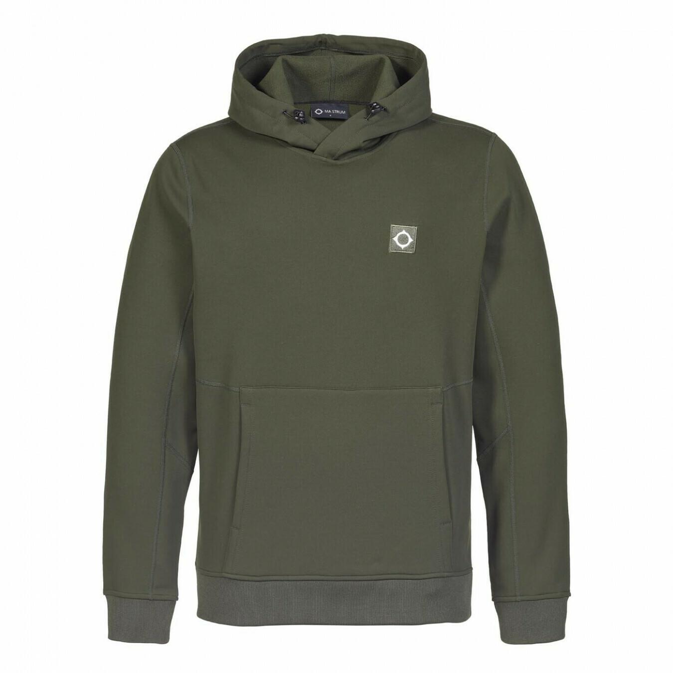 Mastrum | tech fleece overhead hood sweat | oil slick