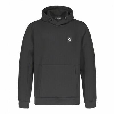 Mastrum | tech fleece overhead hood sweat | jet black