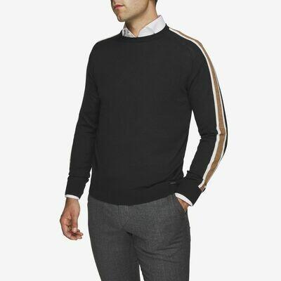 Gentiluomo | trui contrast mouw | donkerblauw