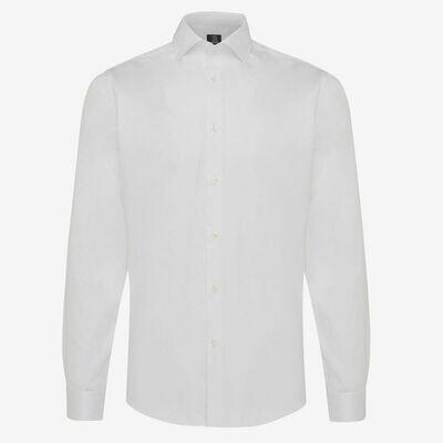 Genti   skin-fit stretch overhemd   wit