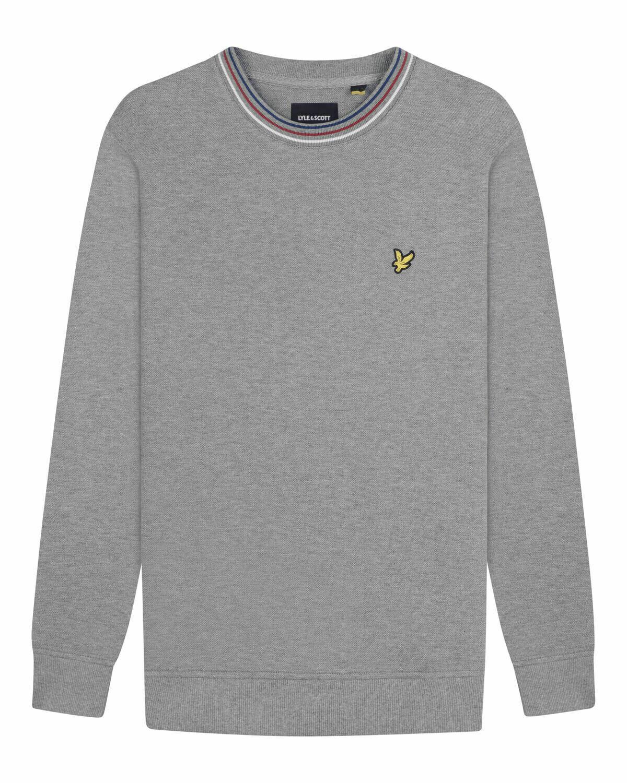 Lyle & scott | sweatshirt van piquékatoen met streepdetails