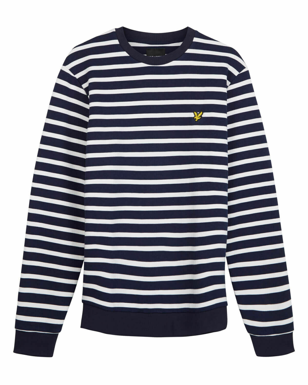 Lyle & scott   sweatshirt met   bretonse streep