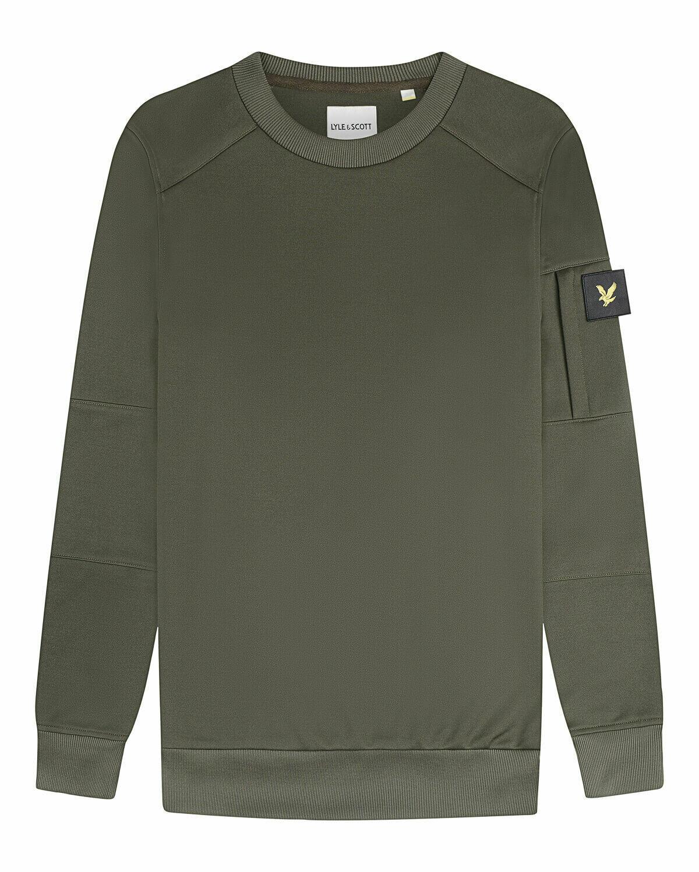 Lyle & scott | sweatshirt met ronde hals en zak
