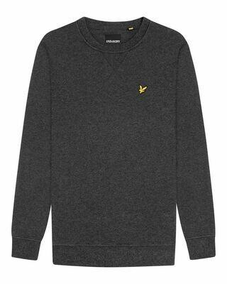 Lyle & scott | sweatshirt met ronde hals | antraciet