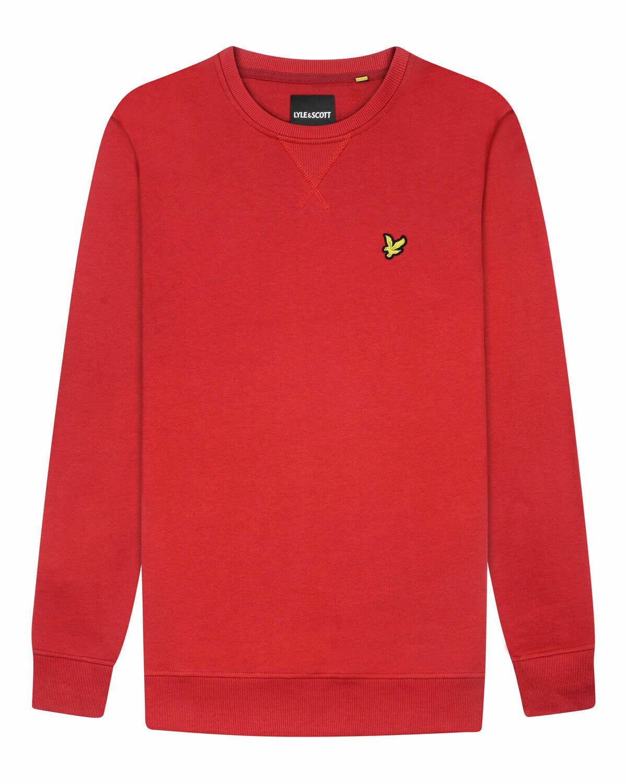 Lyle & Scott | sweatshirt met ronde hals | rood