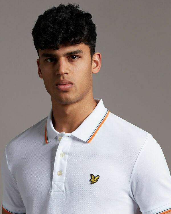 Lyle & Scott | Tipped Polo Shirt | White