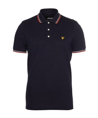Lyle & Scott | Tipped polo shirt | Dark navy