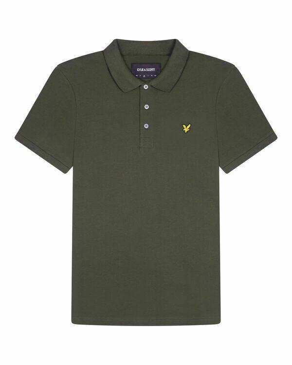 Lyle &Scott | Plain Polo Shirt | Legergroen