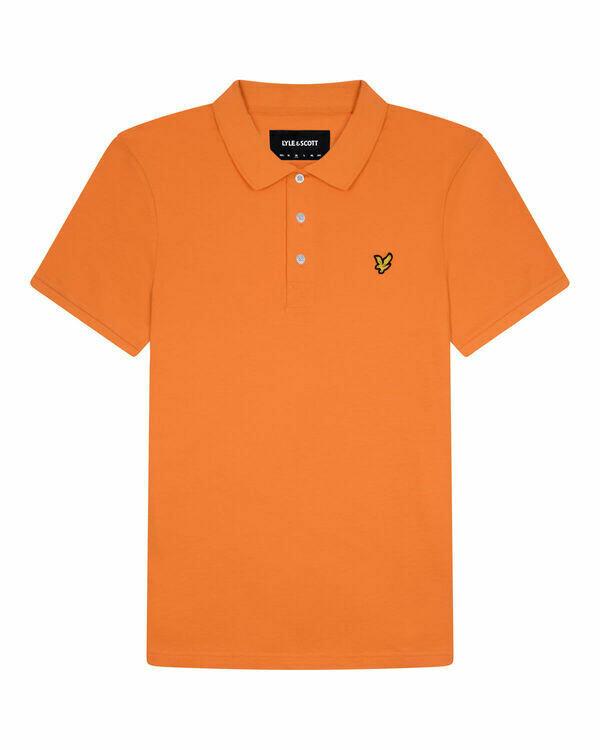 Lyle & Scott | Plain Polo Shirt | Burnt Orange