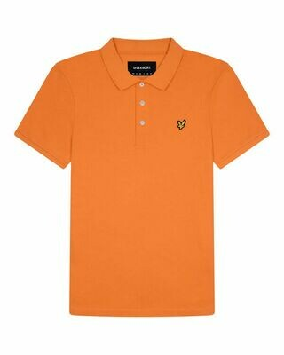 Lyle & Scott | Plain Polo Shirt | Burnt Orange