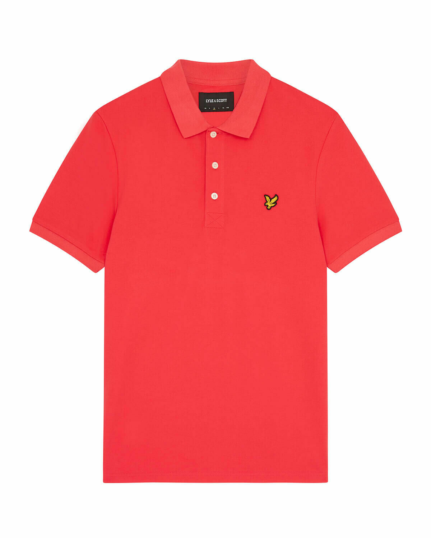 Lyle & Scott | Plain Polo Shirt | Geranium Pink