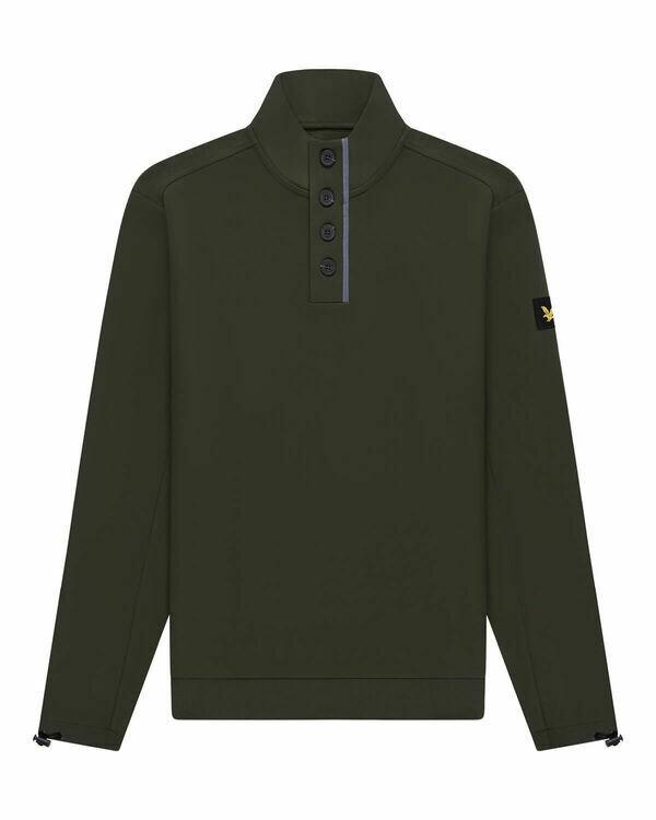 Lyle & Scott | Button Sweater | Trek Green