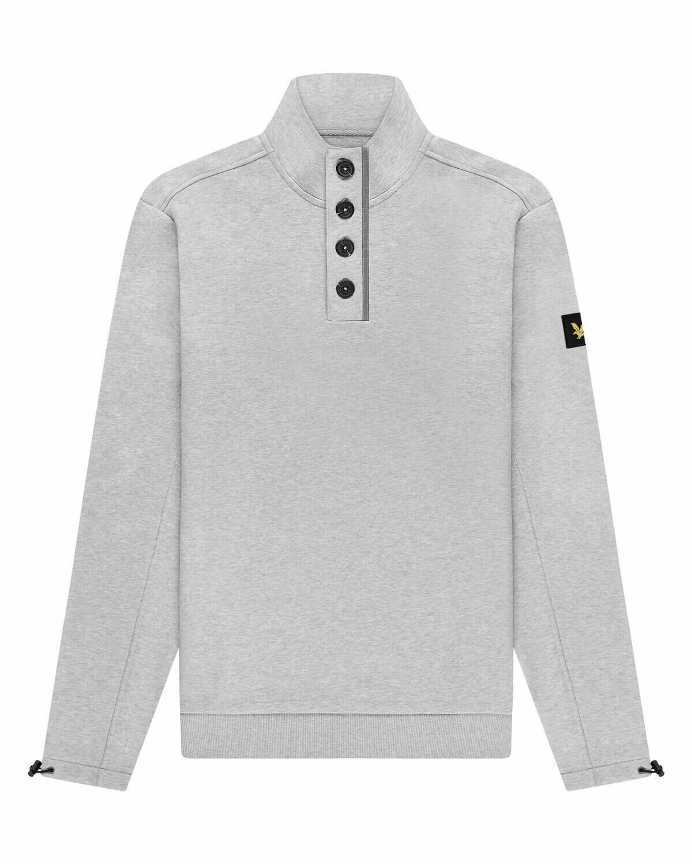 Lyle & Scott | Button Sweater | Ligt Grey Marl