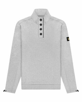 Lyle & Scott | Button Sweater | Ligt Grey Marl
